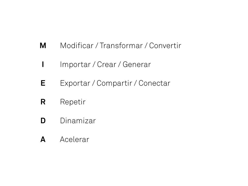 Modificar / Transformar / Convertir Importar / C...