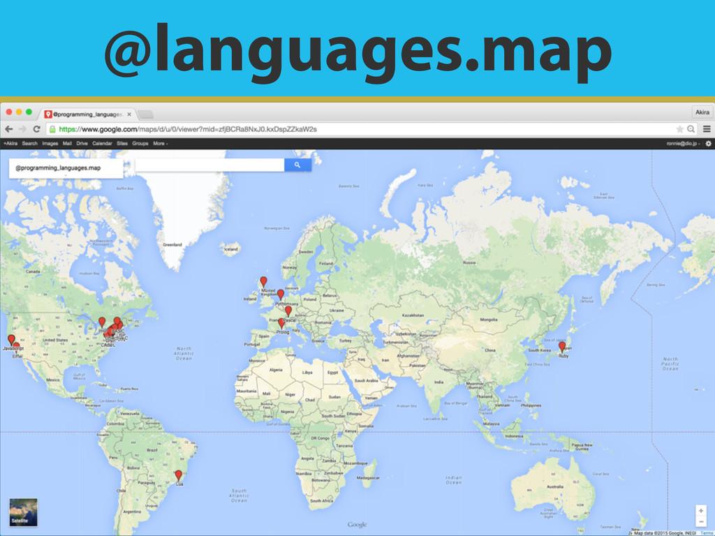 @languages.map