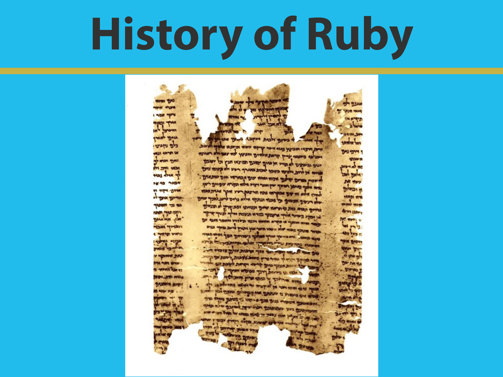 History of Ruby