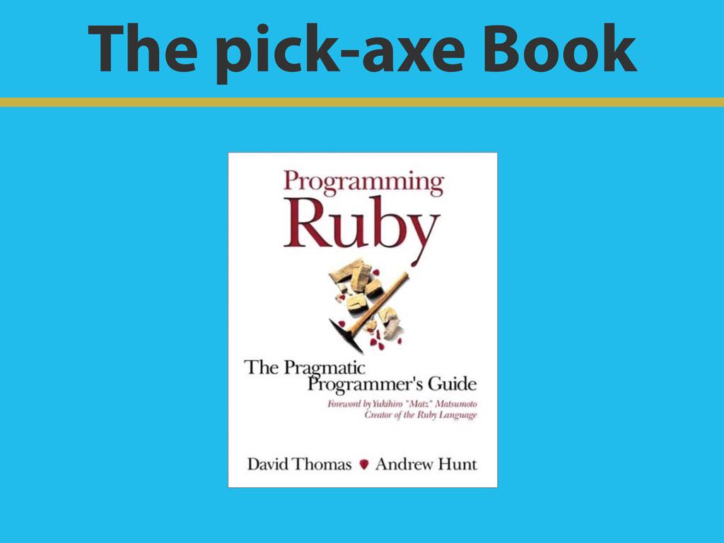 The pick-axe Book