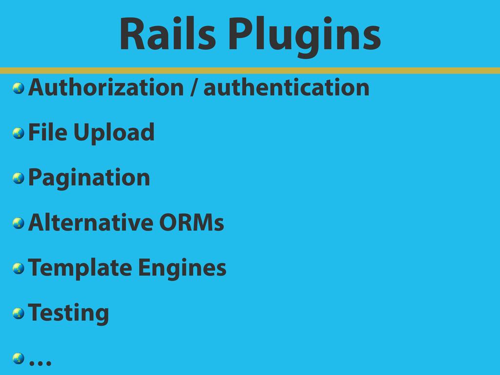 Rails Plugins  Authorization / authentication  ...