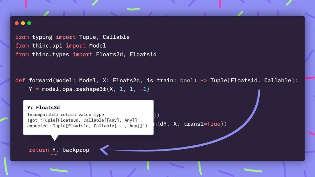Y: Floats3d Incompatible return value type (got...