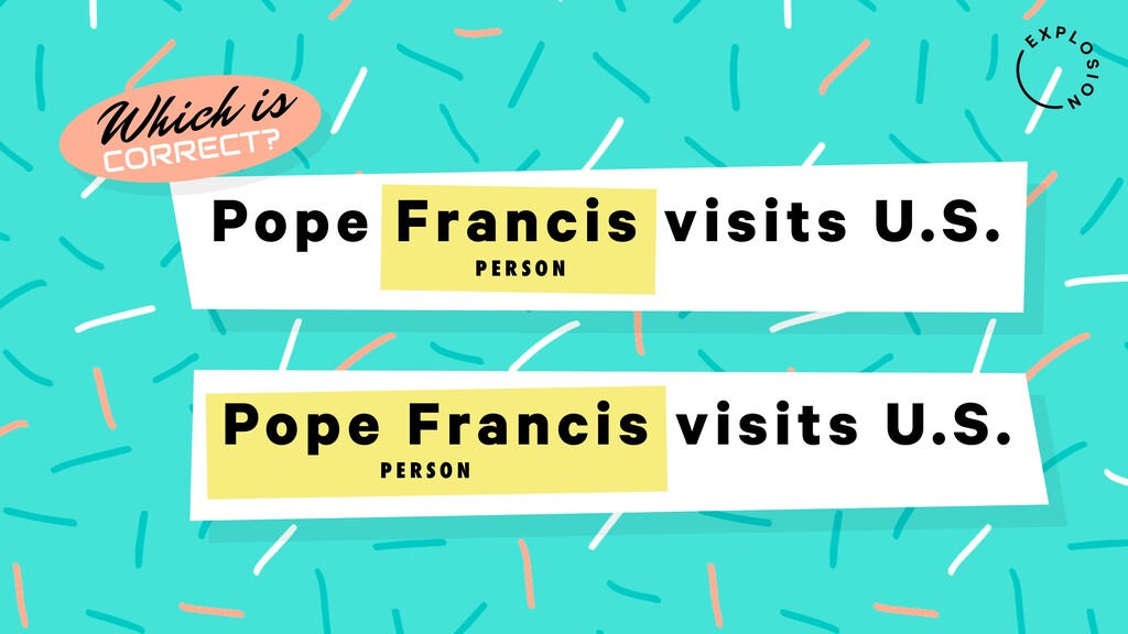 Pope Francis visits U.S. Which is CORRECT? P E ...