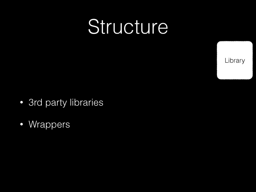Structure Library • 3rd party libraries • Wrapp...