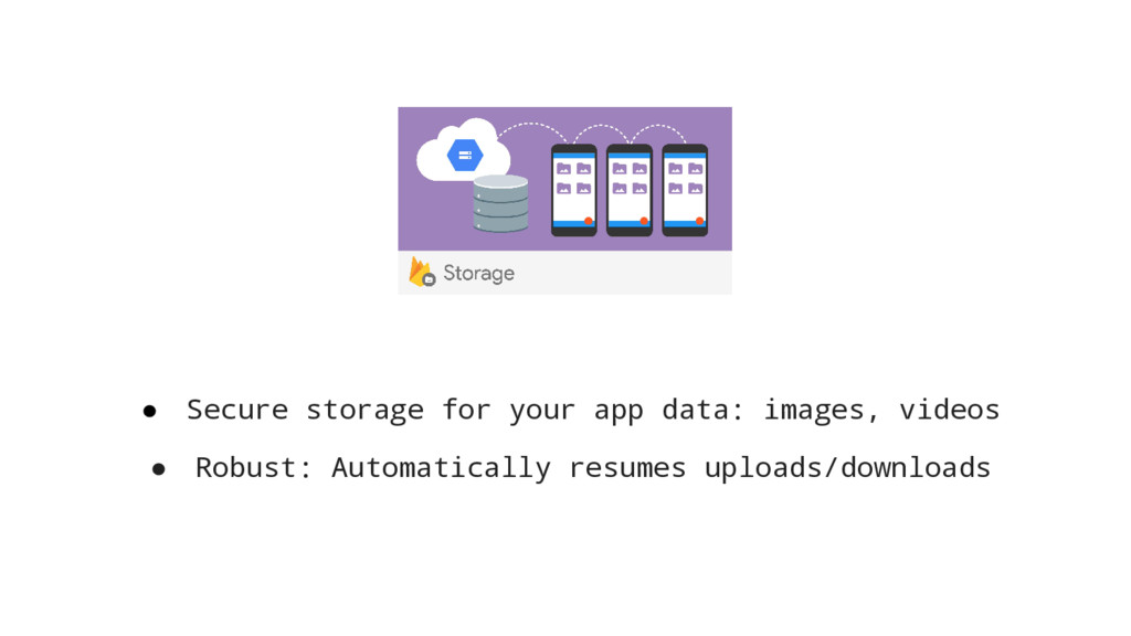 ● Secure storage for your app data: images, vid...