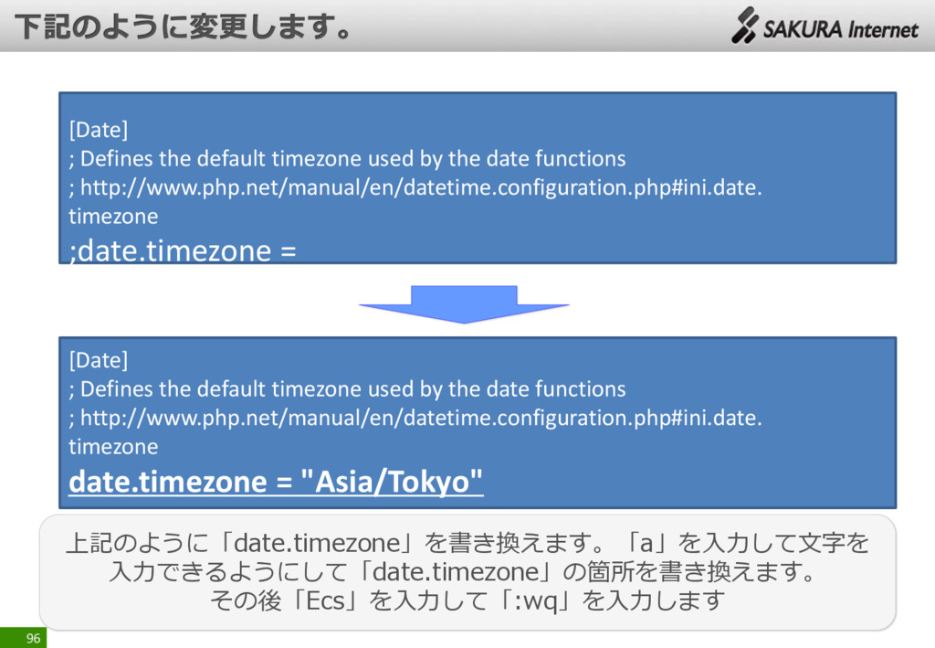 96 [Date] ; Defines the default timezone used b...