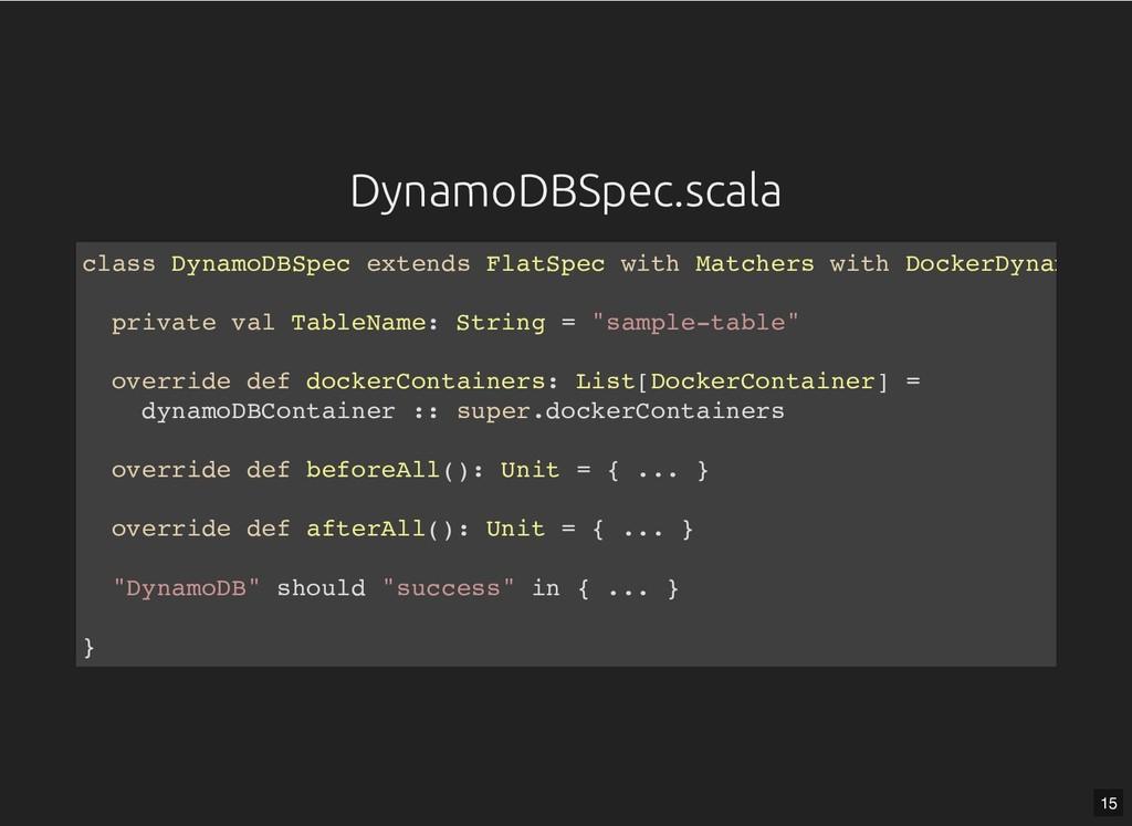 DynamoDBSpec.scala DynamoDBSpec.scala class Dyn...
