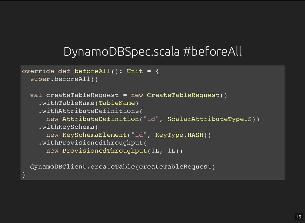 DynamoDBSpec.scala #beforeAll DynamoDBSpec.scal...