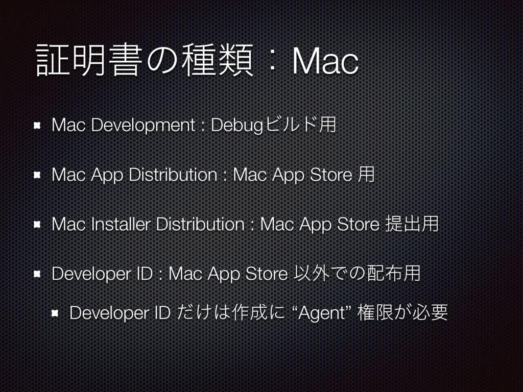 ূ໌ॻͷछྨɿMac Mac Development : DebugϏϧυ༻ Mac App ...