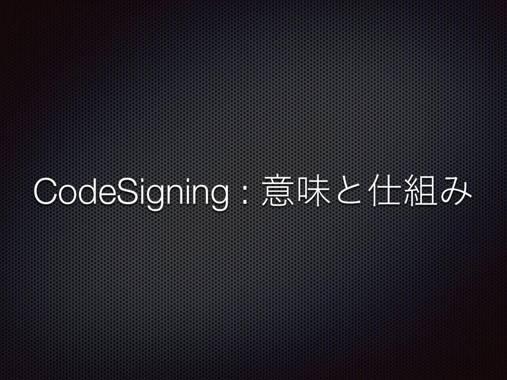 CodeSigning : ҙຯͱΈ
