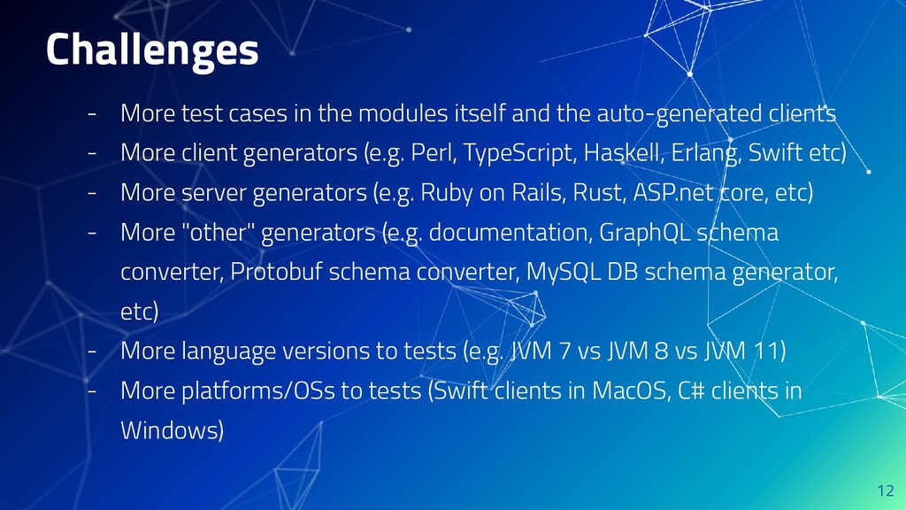 Challenges - More test cases in the modules its...