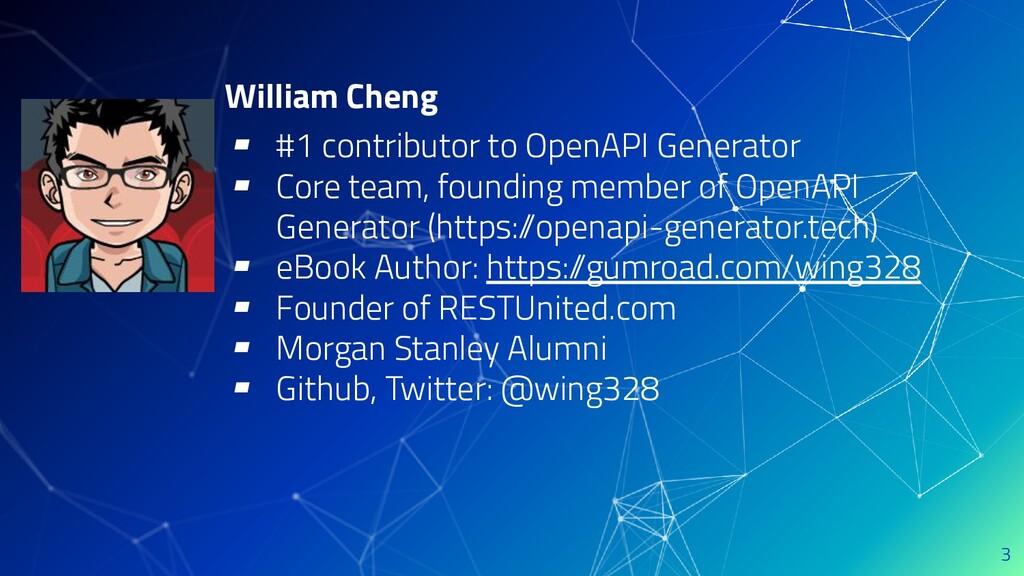 William Cheng ▰ #1 contributor to OpenAPI Gener...