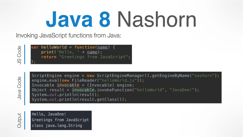 Java 8 Nashorn Invoking JavaScript functions fr...