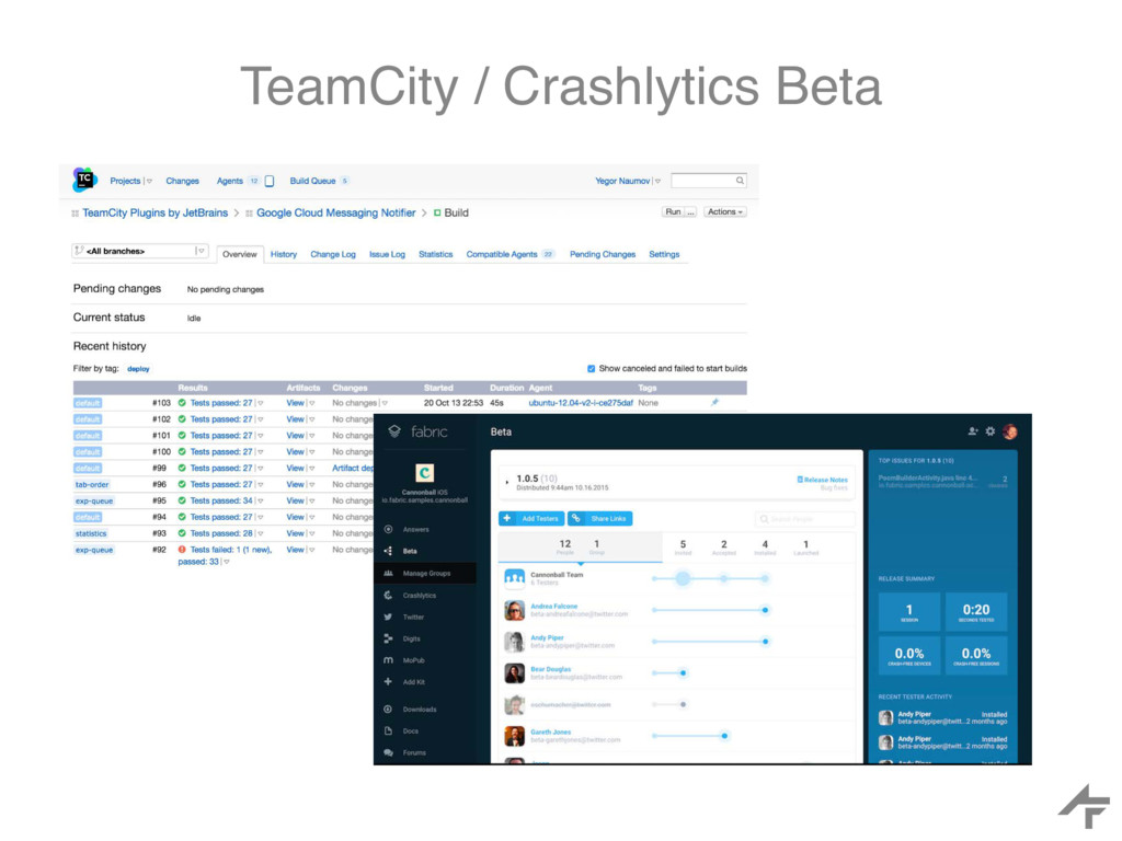 TeamCity / Crashlytics Beta