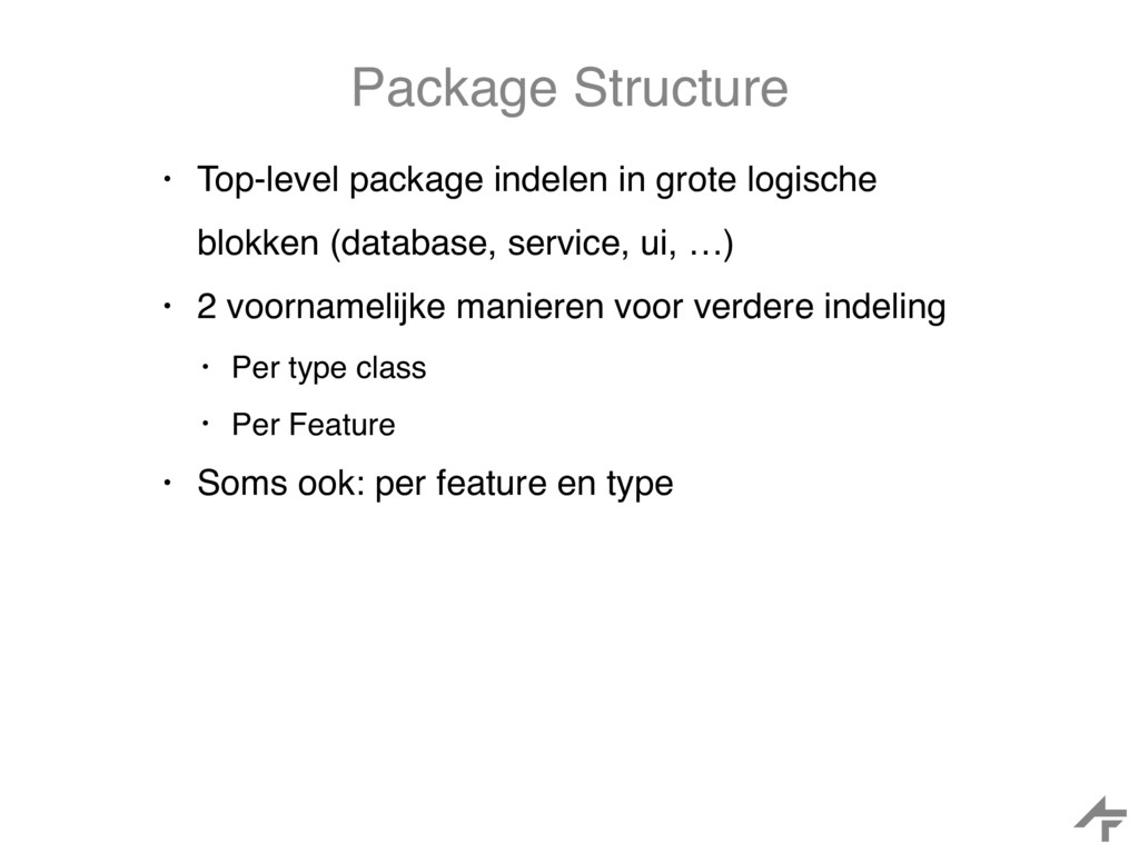Package Structure • Top-level package indelen i...