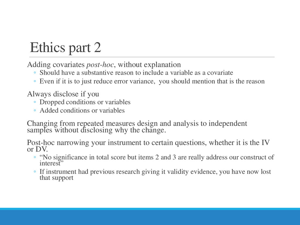 Ethics part 2 Adding covariates post-hoc, witho...