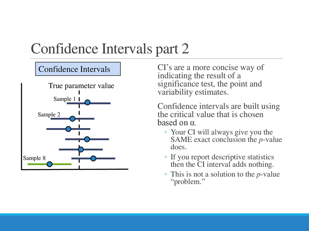 Confidence Intervals part 2 CI's are a more con...
