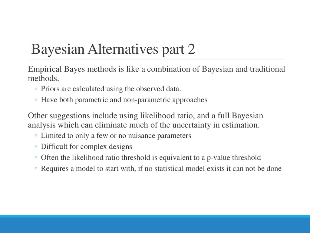 Bayesian Alternatives part 2 Empirical Bayes me...