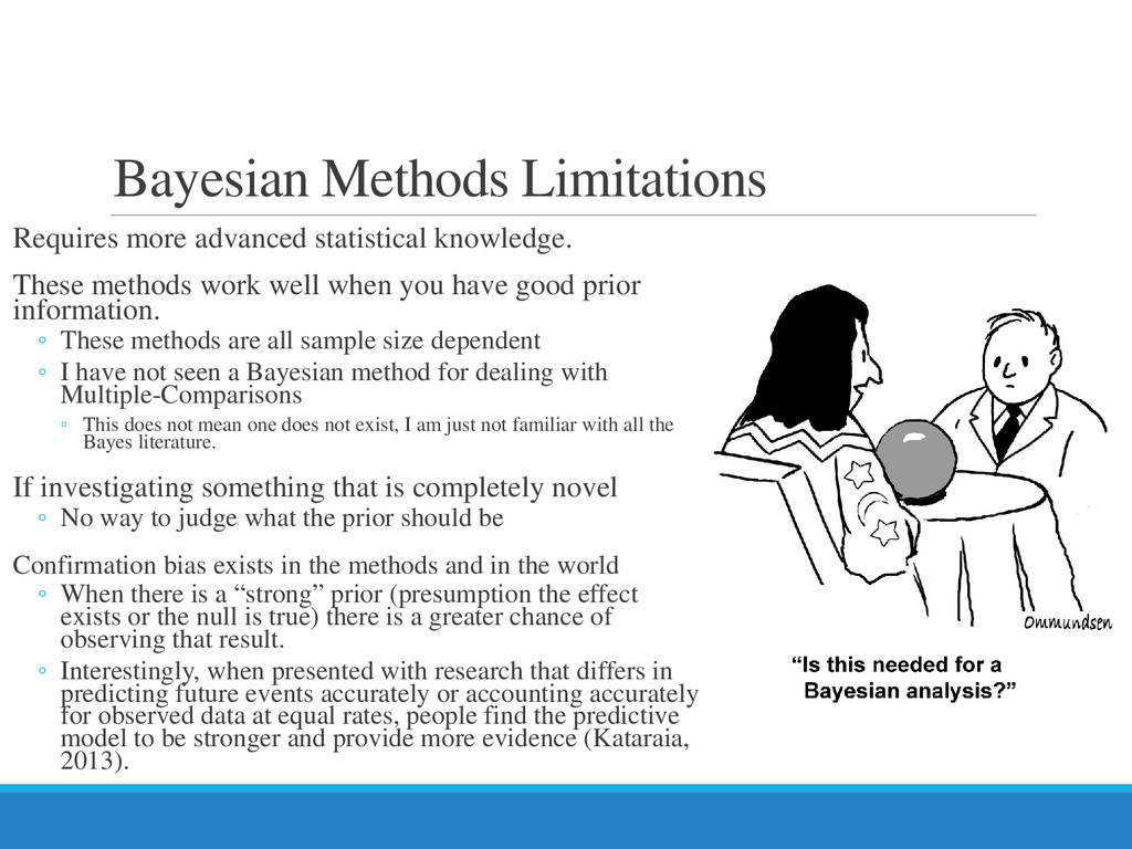 Bayesian Methods Limitations Requires more adva...