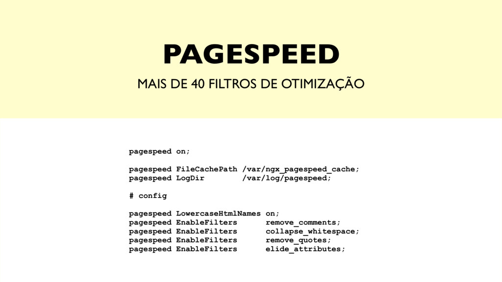 PAGESPEED MAIS DE 40 FILTROS DE OTIMIZAÇÃO page...