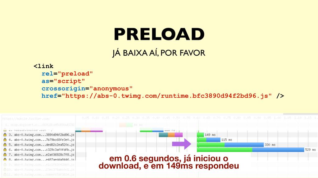PRELOAD JÁ BAIXA AÍ, POR FAVOR em 0.6 segundos,...