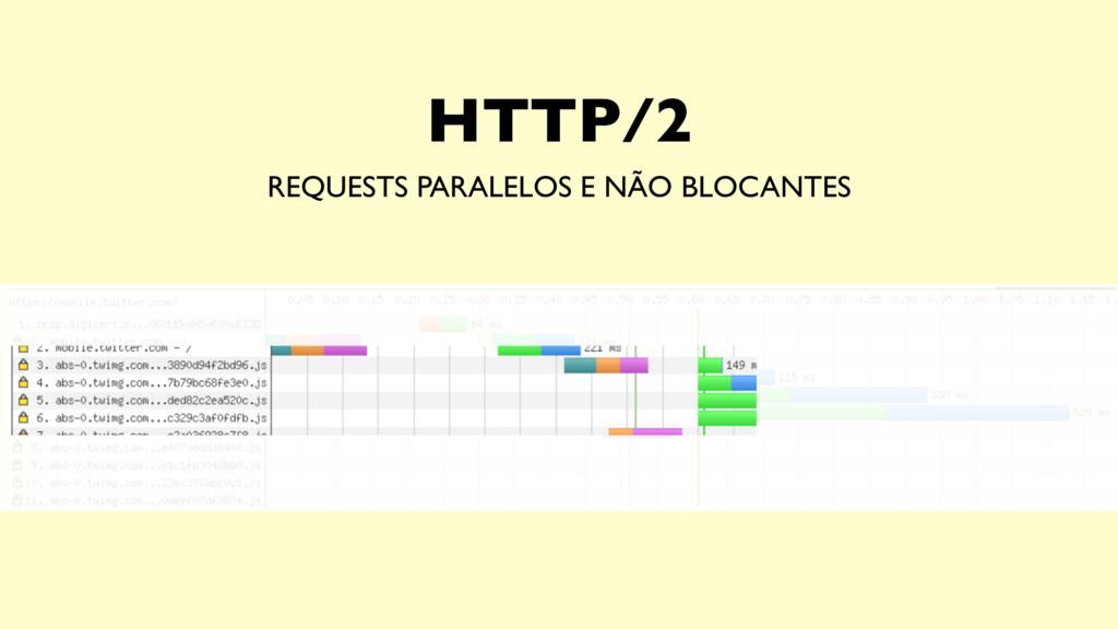HTTP/2 REQUESTS PARALELOS E NÃO BLOCANTES