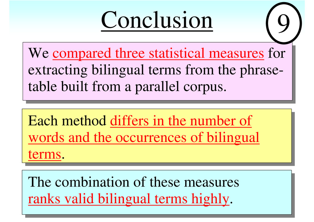 Conclusion We compared three statistical measur...