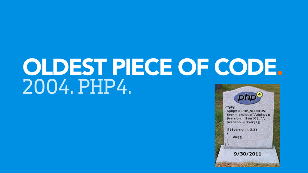 OLDEST PIECE OF CODE. 2004. PHP4.