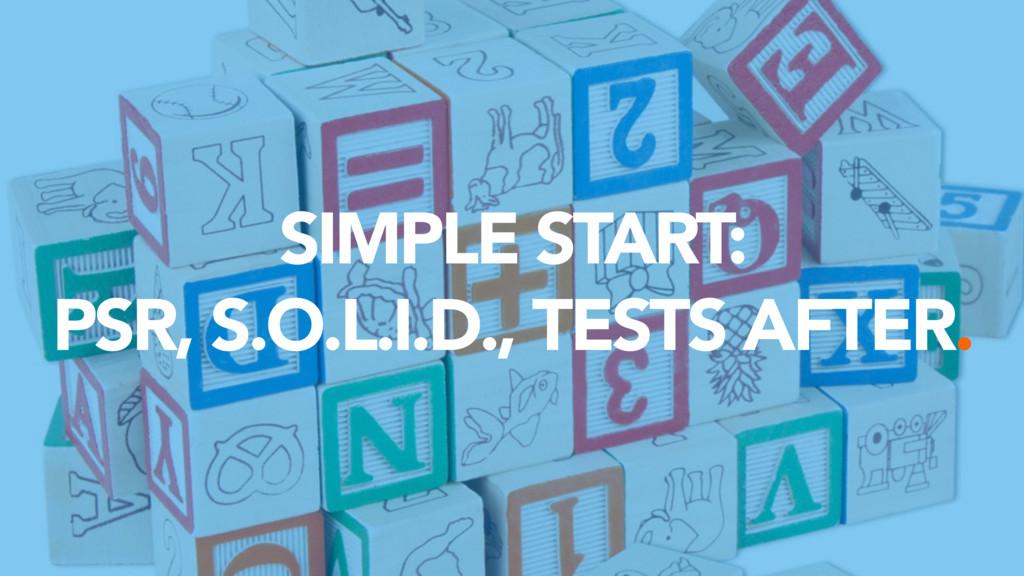 SIMPLE START: PSR, S.O.L.I.D., TESTS AFTER.