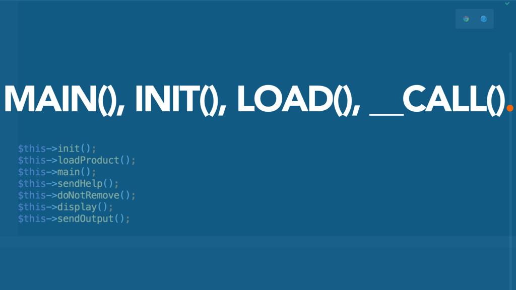 MAIN(), INIT(), LOAD(), __CALL().