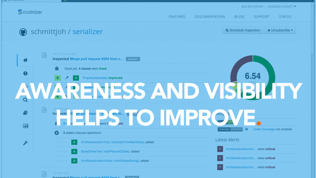 AWARENESS AND VISIBILITY HELPS TO IMPROVE.