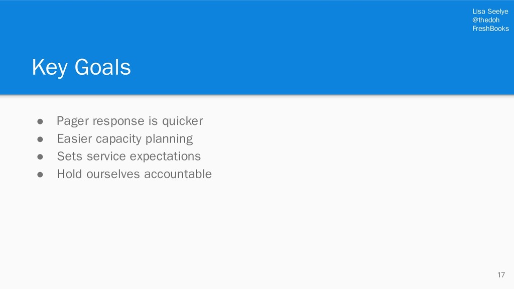 Lisa Seelye @thedoh FreshBooks Key Goals ● Page...