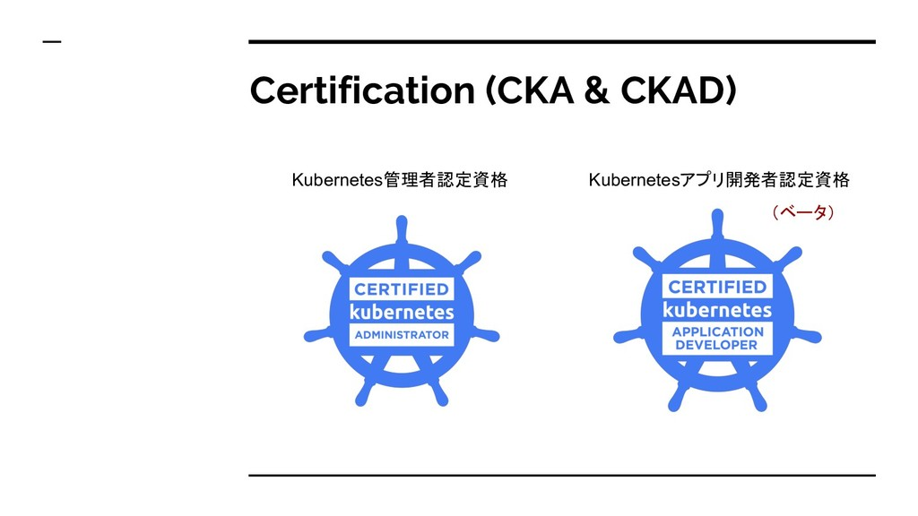 Certification (CKA & CKAD) Kubernetes管理者認定資格 Ku...