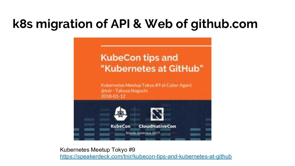 k8s migration of API & Web of github.com Kubern...