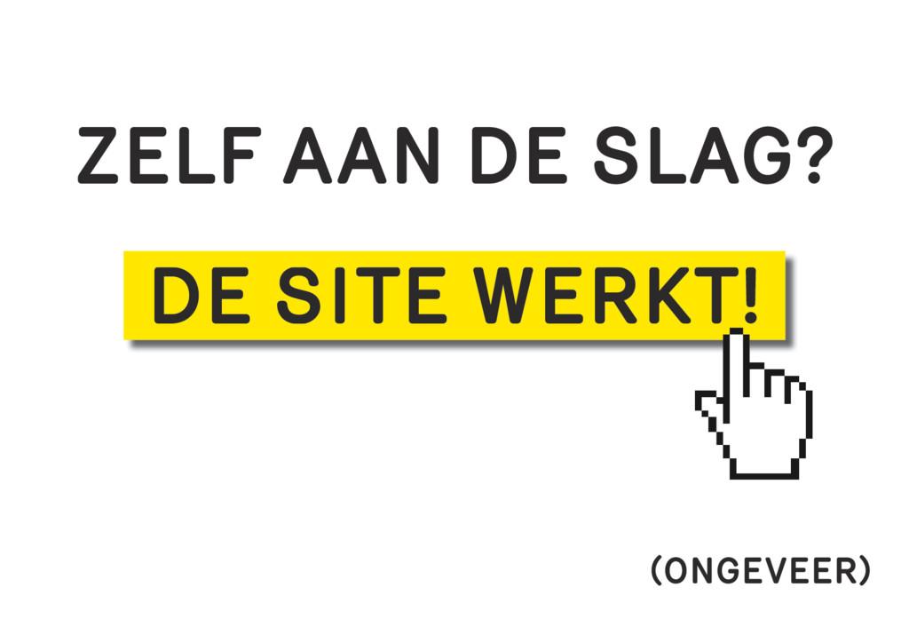 ZELF AAN DE SLAG? DE SITE WERKT! (ONGEVEER)