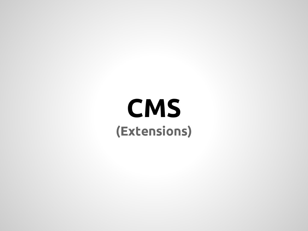 CMS (Extensions)