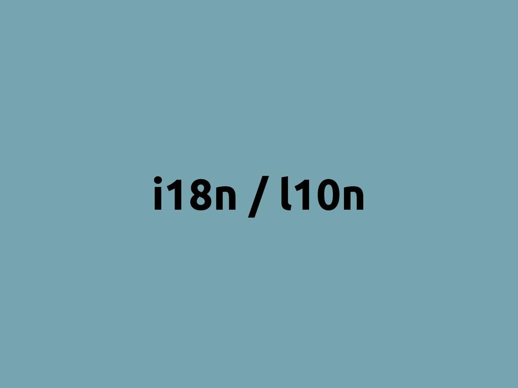 i18n / l10n