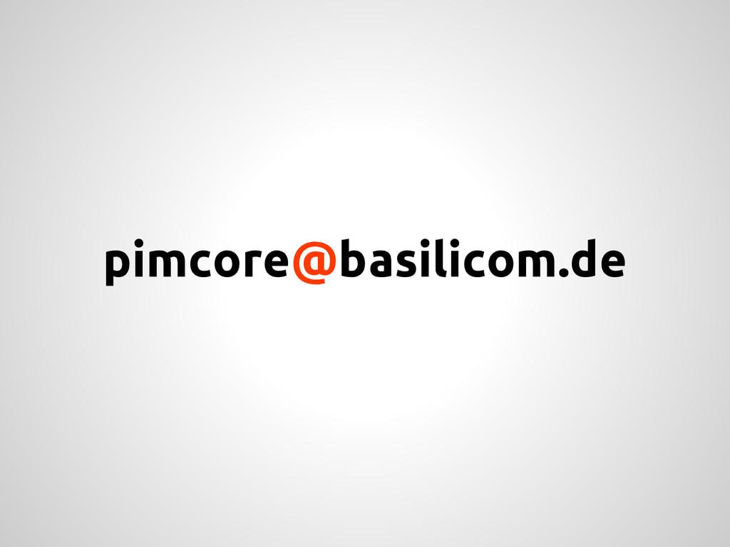 pimcore@basilicom.de