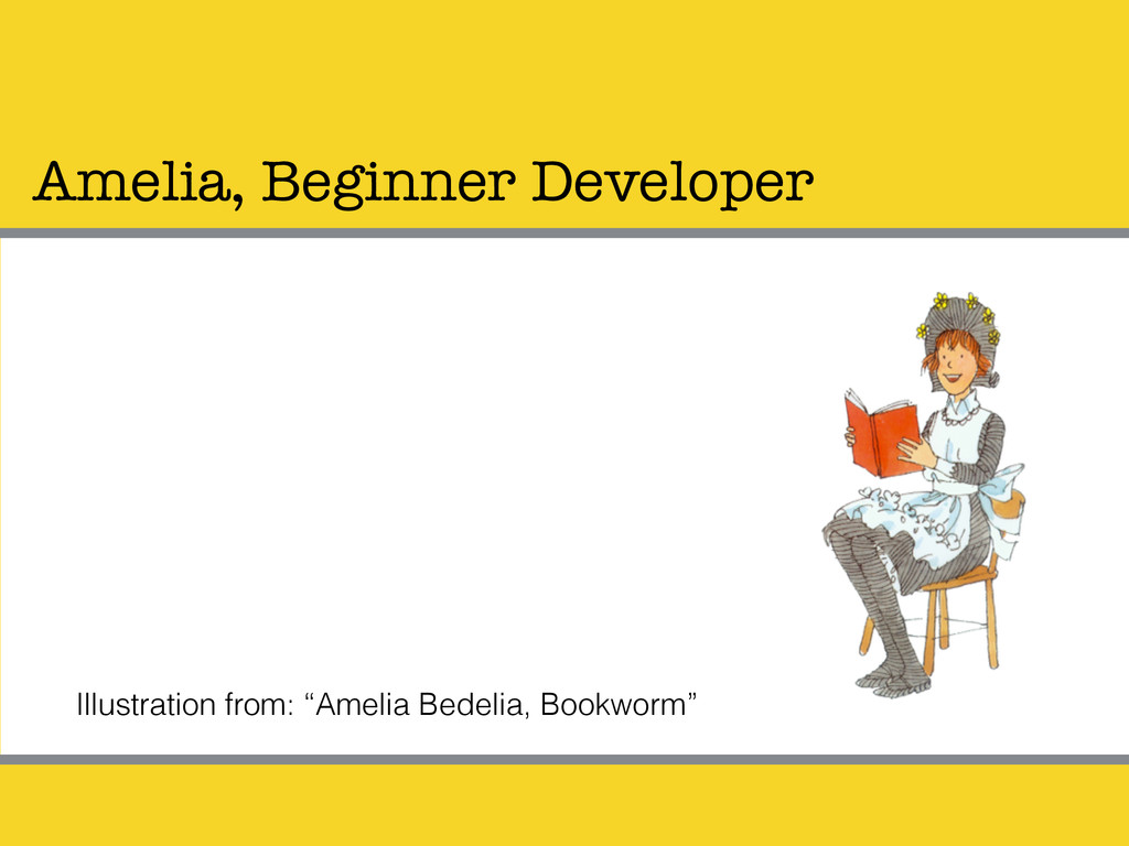 "Amelia, Beginner Developer Illustration from: ""..."