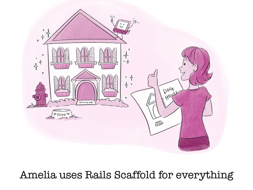 Amelia uses Rails Scaffold for everything