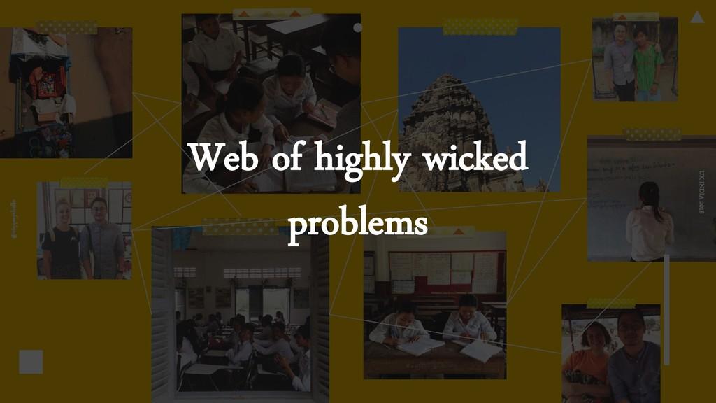 @ziqqsayshello UX INDIA 2018 Web of highly wick...