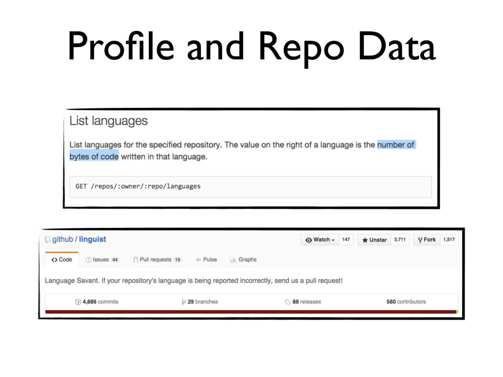 Profile and Repo Data