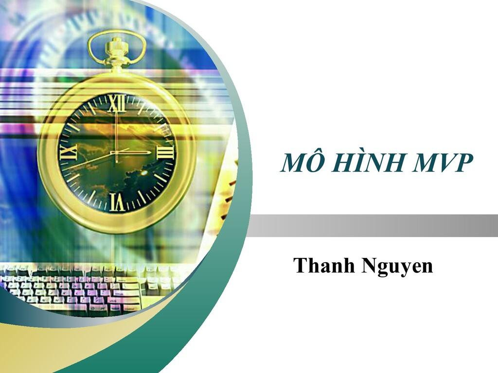 """LOGO """" Add your company slogan """" MÔ HÌNH MVP Th..."""
