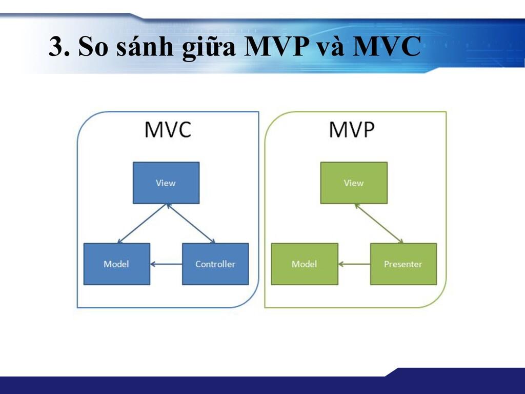 3. So sánh giữa MVP và MVC