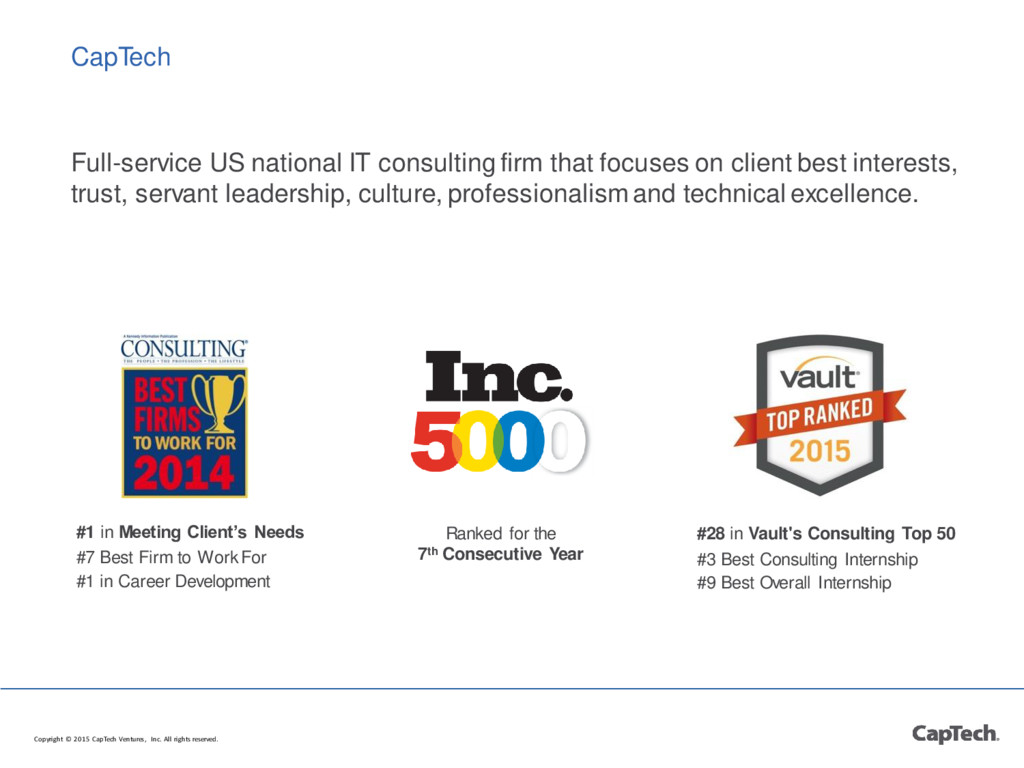 CapTech Full-service US national IT consulting ...