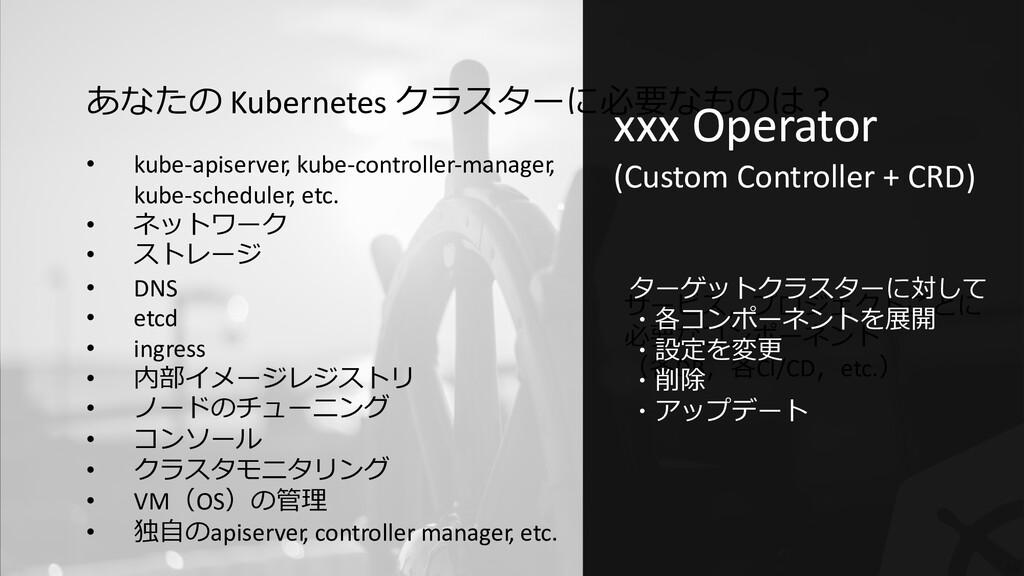 56 あなたの Kubernetes クラスターに必要なものは︖ サービス,プロジェクトごとに...