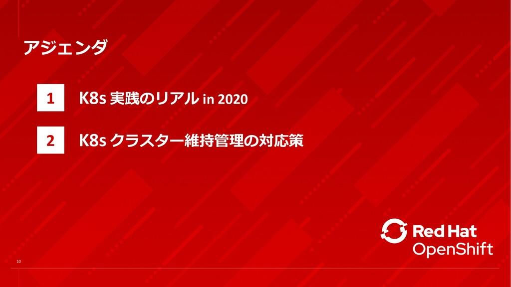 アジェンダ 1 2 K8s 実践のリアル in 2020 K8s クラスター維持管理の対応策 ...