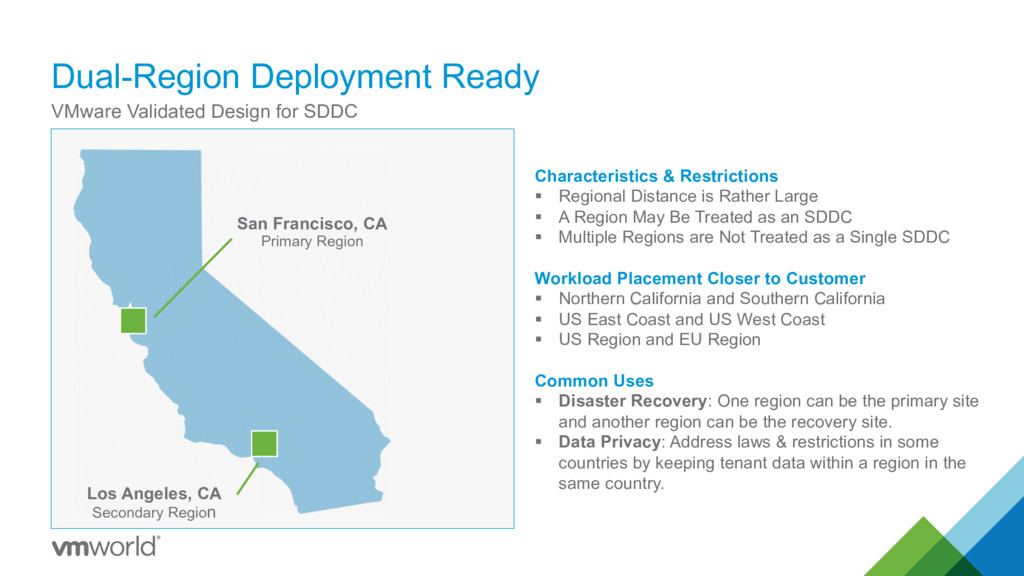 Dual-Region Deployment Ready VMware Validated D...
