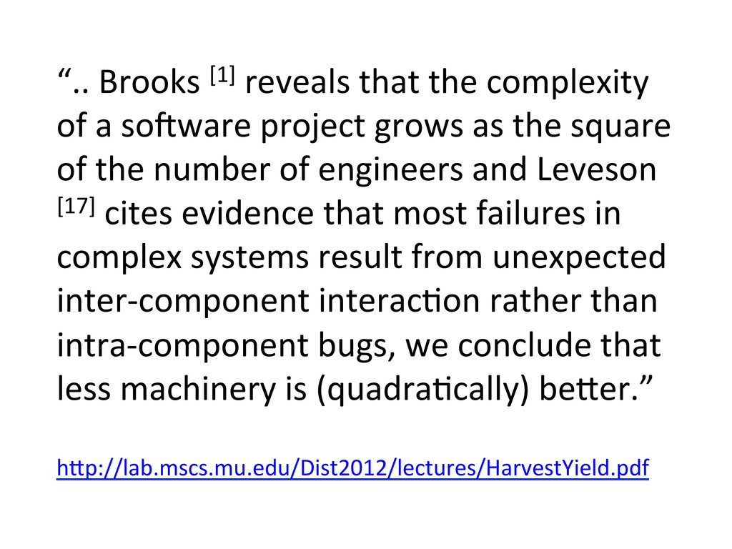 """"""".. Brooks [1] reveals that the..."""