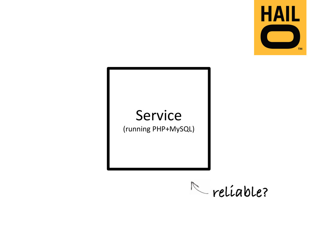 Service  (running PHP+MySQL)  reliable...